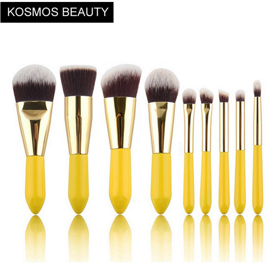 K10069 9 Piece Short Handle Makeup Brush Set